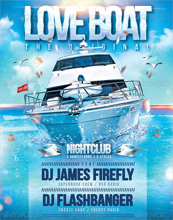 love boat flyer design