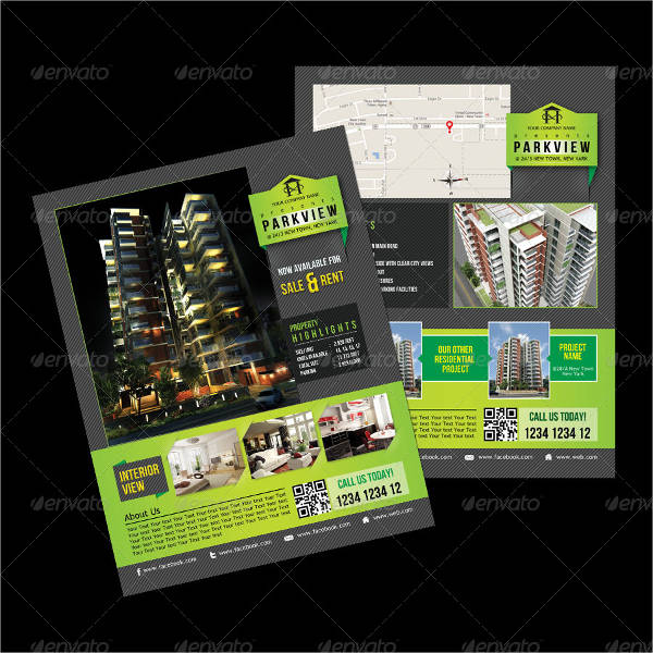 luxury apartment agency brochure template