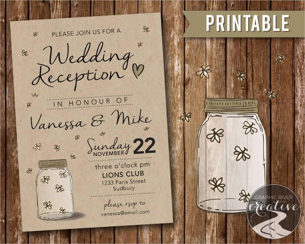 mason jar wedding reception invitations1