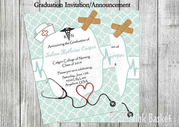 medical graduation invitation template