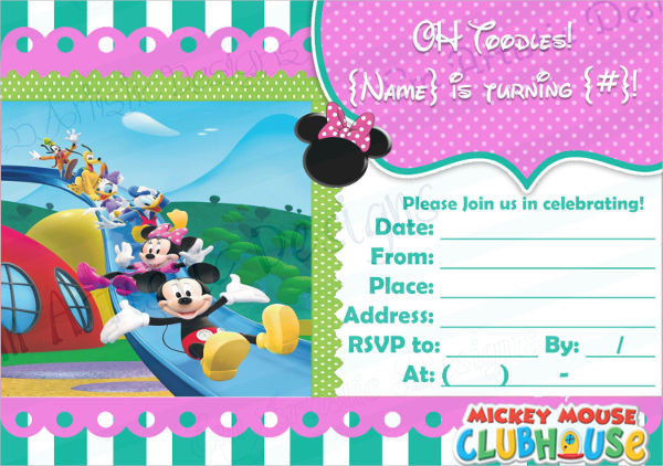 mickey mouse blank invitation template