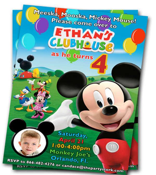 mickey mouse club house invitation template