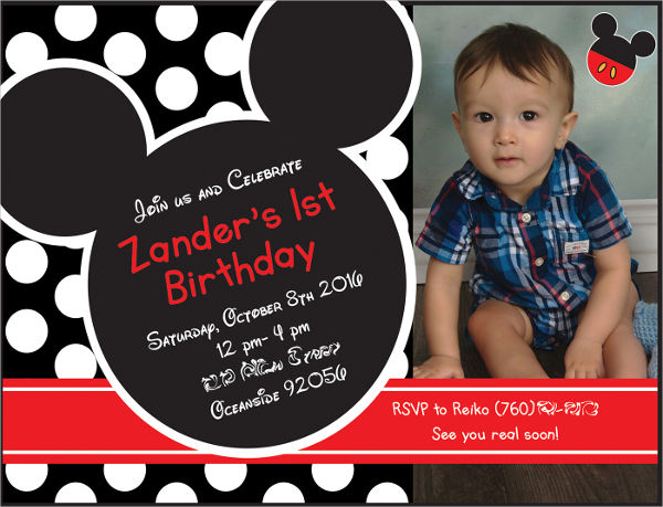 mickey mouse head invitation template