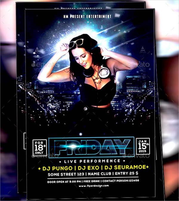 midnight dj guest flyer design