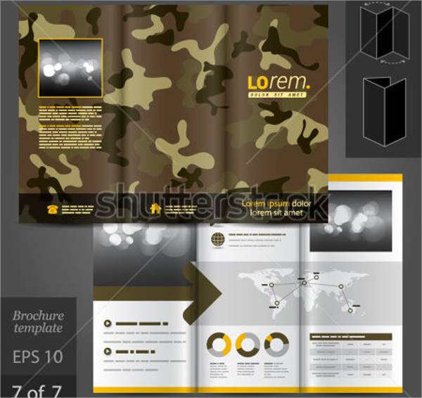 military brochure template