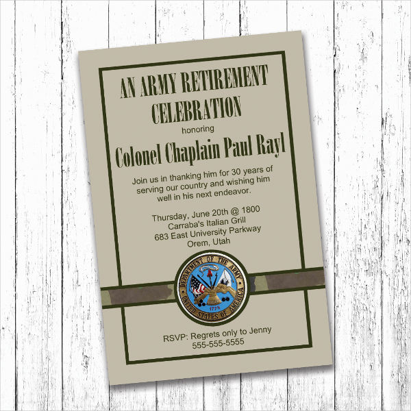 military retirement invitation cards1