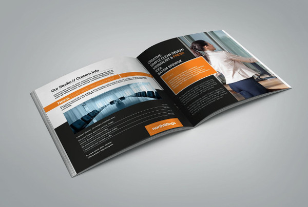 minimal marketing business brochure template