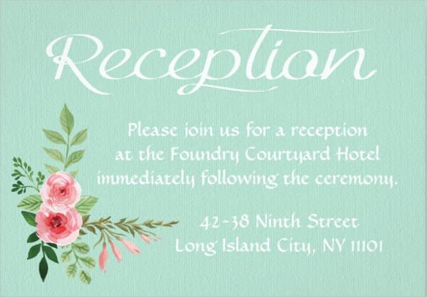 mint green wedding reception invitations1