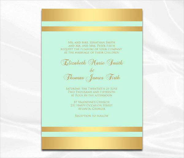 minted foil wedding invitation