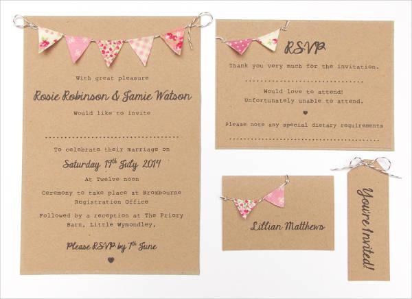 minted pink wedding invitation