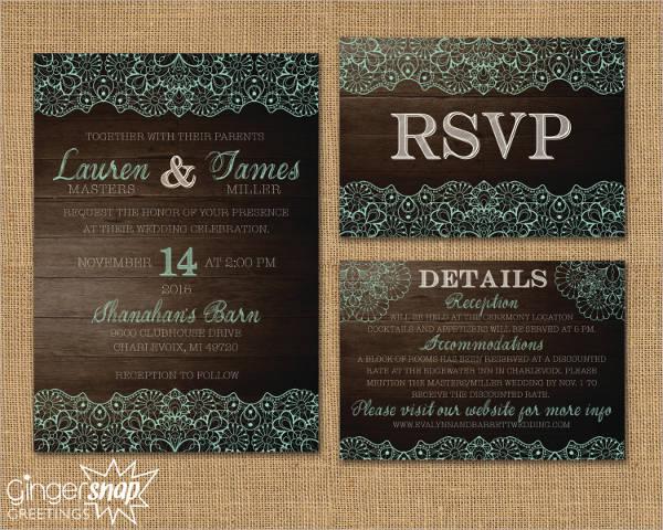 minted rustic wedding invitation