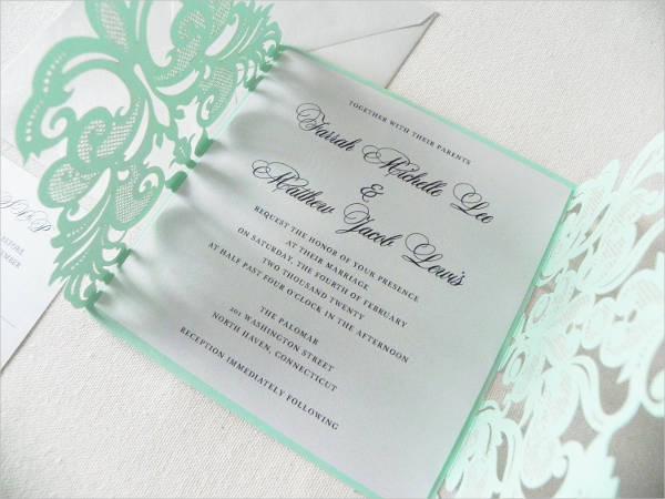 minted vintage wedding invitation