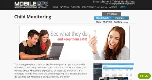 mobile spy child monitoring software