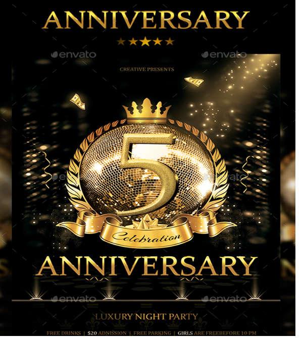 modern anniversary flyer