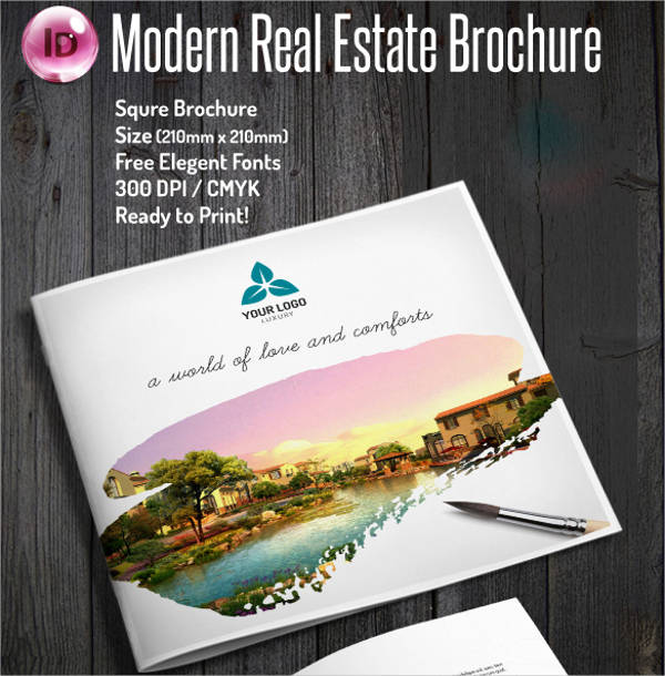 modern real estate company brochure