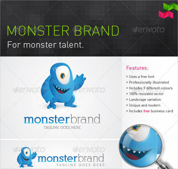 monster brand logo design
