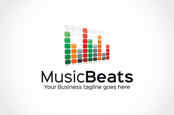 music beat logo template