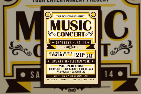 music concert poster template