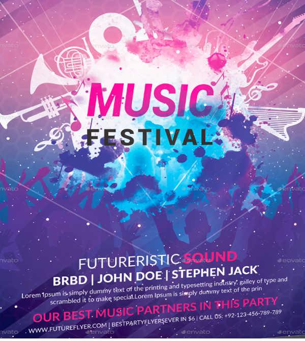 music festival event flyer