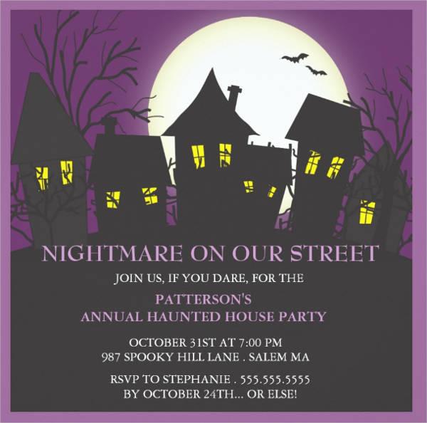 neighborhood halloween party invitation