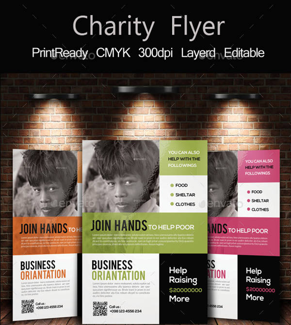non profit charity poster template