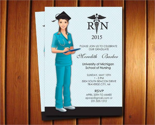 nursing graduation party invitation templates