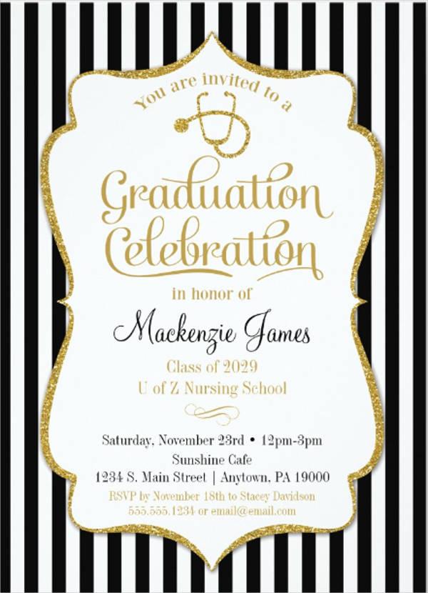 nursing graduation party invitation1