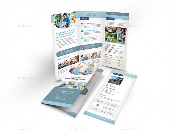 nursing home care trifold brochure