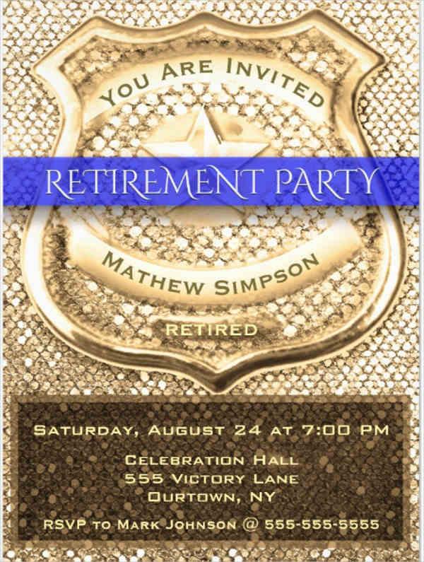 office retirement invitation templates