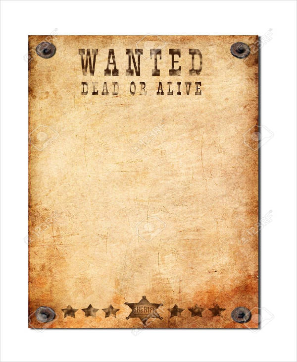 old rustic blank wanted poster1