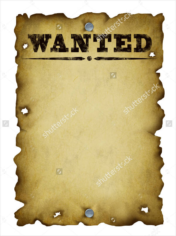 30 Downloadable Wanted... Old Blank Poster
