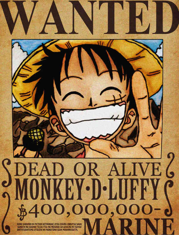 30 downloadable wanted posters - One piece wanted poster ...