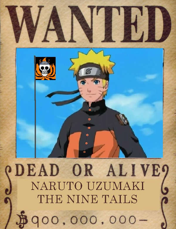 one piece wanted naruto vintage poster2