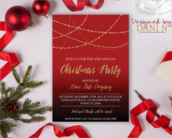 ornamental christmas party invitation1