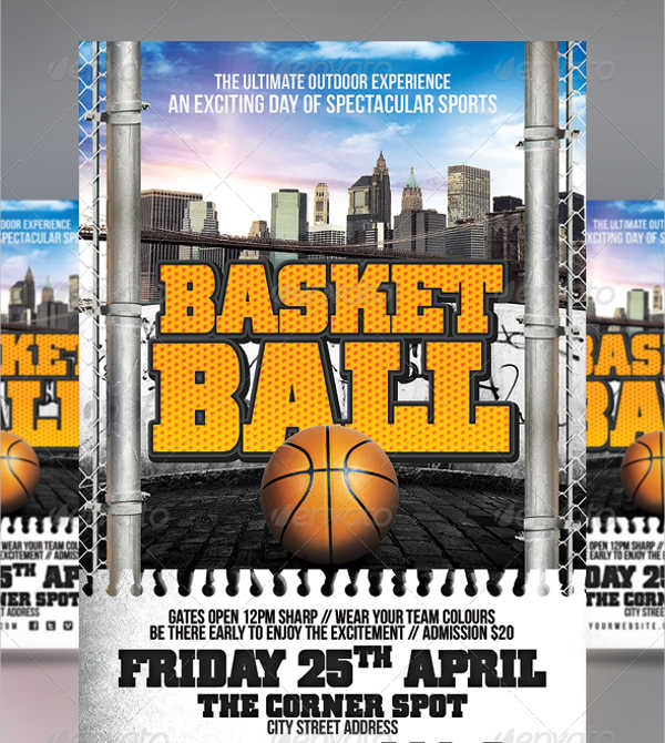 outdoor sports event flyer