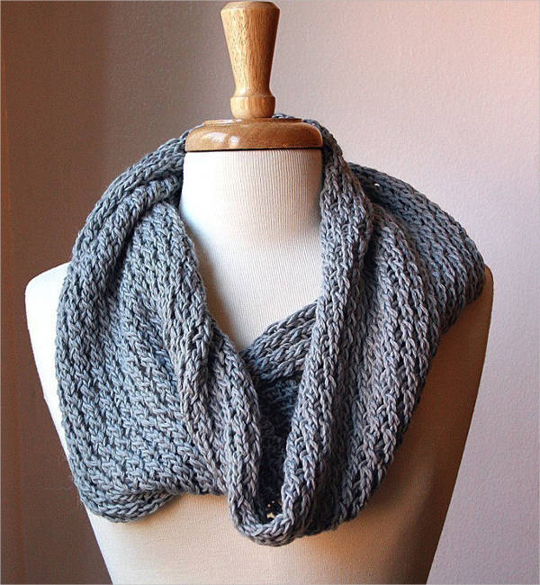 psd circle scarf knitting patterns