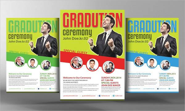 pastor's graduation ceremony flyer