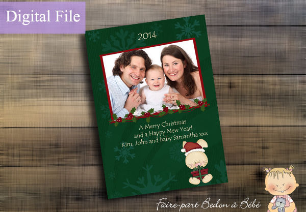 personalized holiday card template