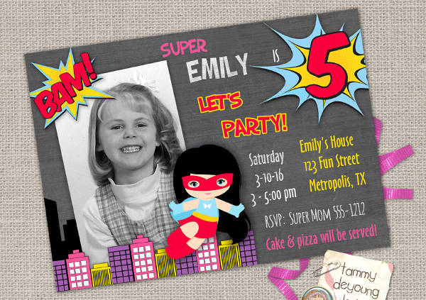 personalized kid birthday invitation