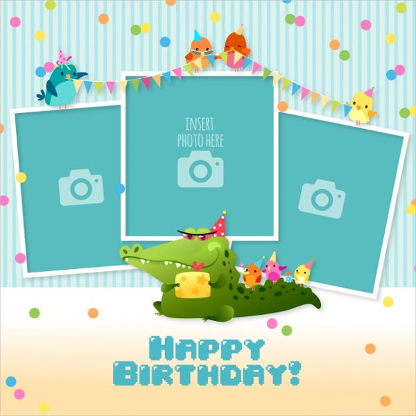 photo birthday invitation cards