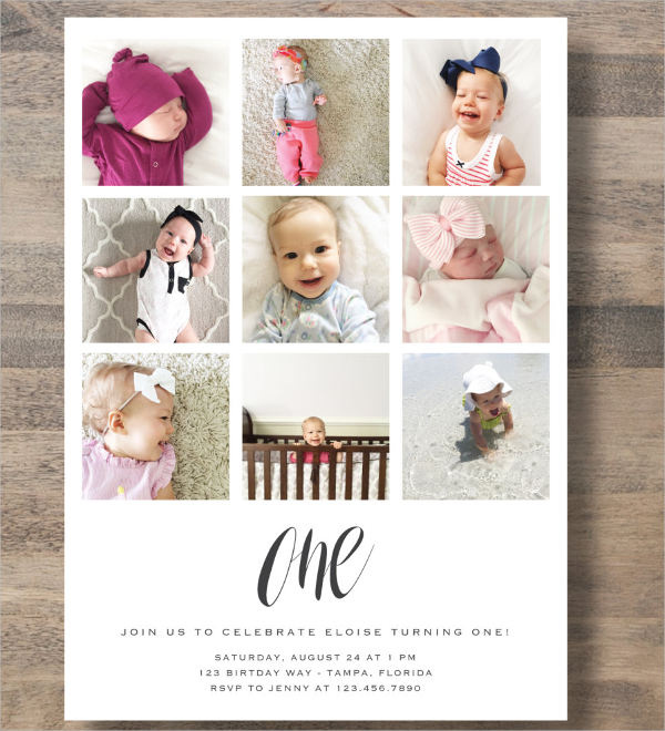 photo collage invitation cards