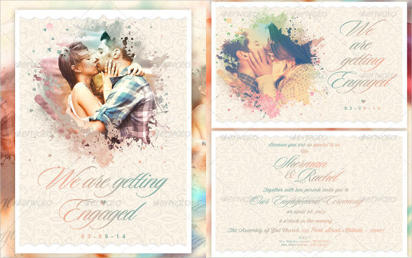 photo engagement invitation template