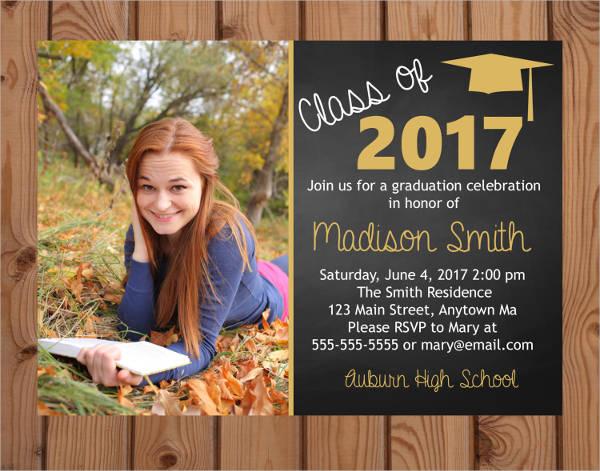 photo graduation party invitation1