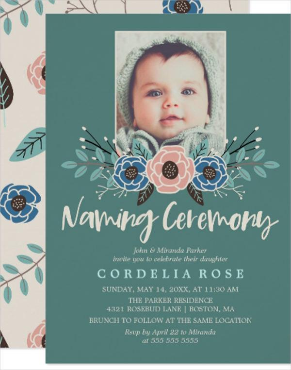 photo naming day ceremony invitation1
