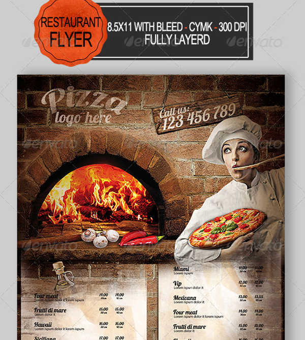 pizza restaurant flyer1