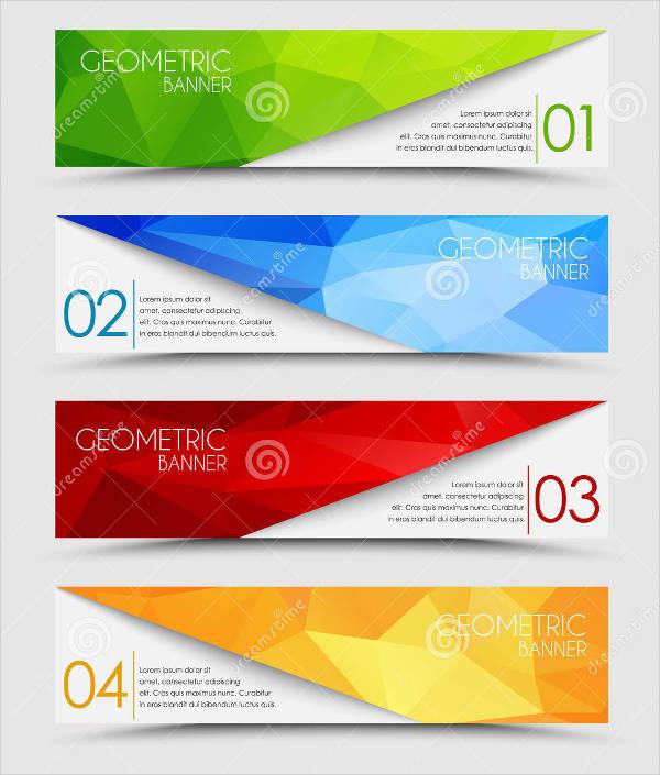 polygon banner vector
