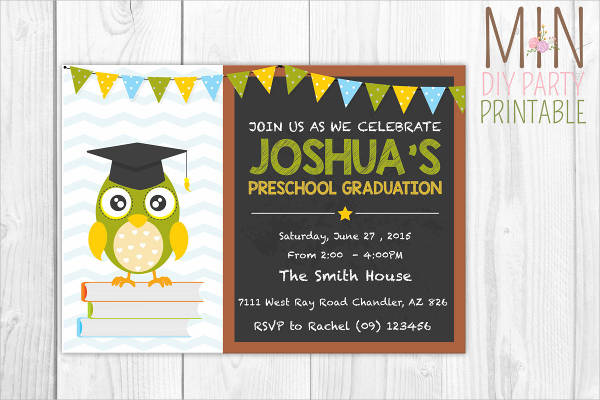 preschool graduation party invitation