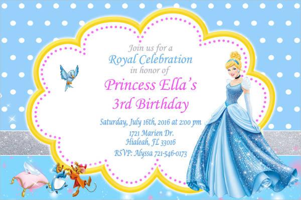 princess cinderella invitation
