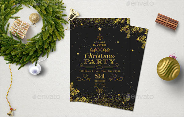 printable formal christmas invitation