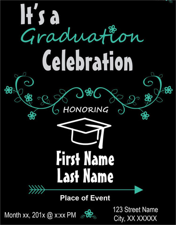 printable graduation invitation cards